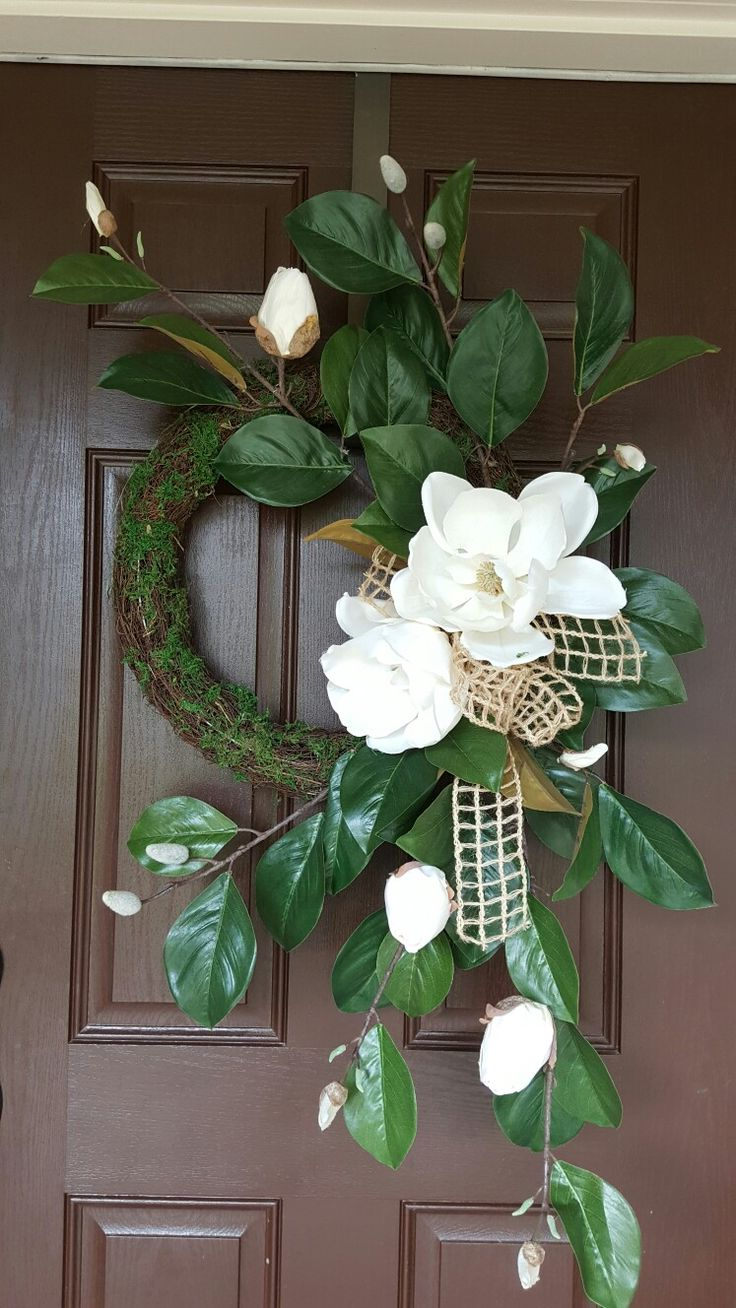 Magnolia door wreath by Kyong