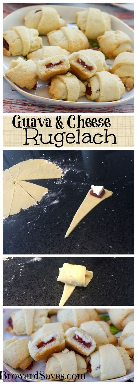 Delicious and easy to make Guava & Cream Cheese Rugelach! A hit with kids and adults alike. Don't miss this for your next gathering