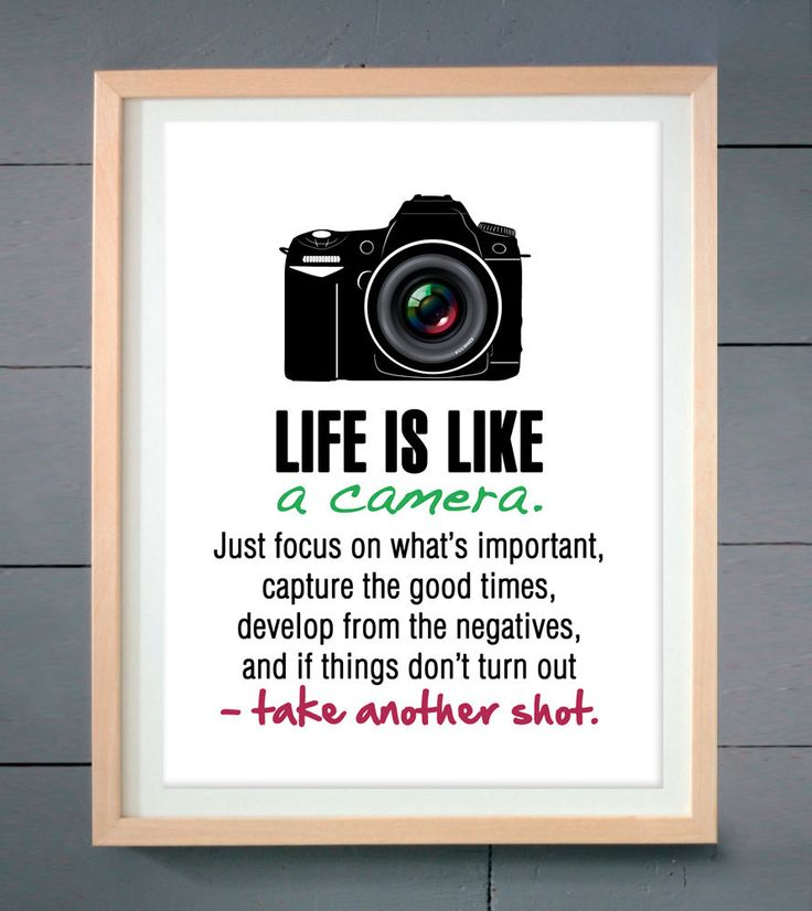 - Details - Product Information - Shipping Life is like a camera. This print is designed and handmade in the US and will definitely add that wow factor to any room. The great part about it is that it