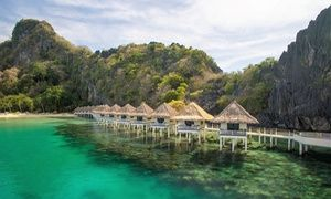 Groupon - Philippinen: 7 Nächte für 1-2 Pers. mit VP, Transfer & Inlandflug im El Nido Apulit Island Resort auf der Palawan Insel in Pasay City,Manila. Groupon Angebotspreis: 2.398€