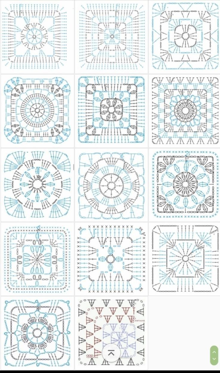 Beautiful Granny Square With Pattern Grannysquares Crochet Häkeln