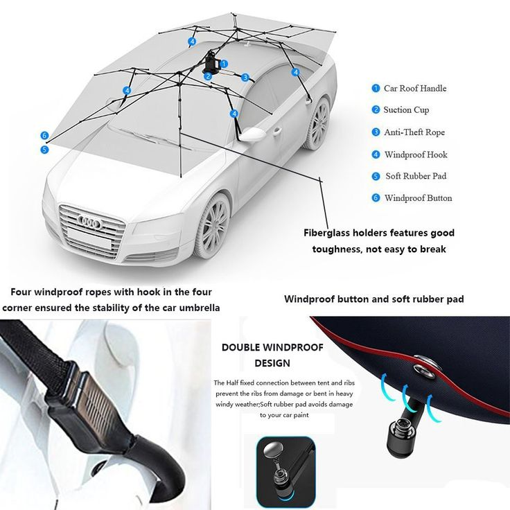 Reliancer Automatic Car Tent w/Remote Control Movable