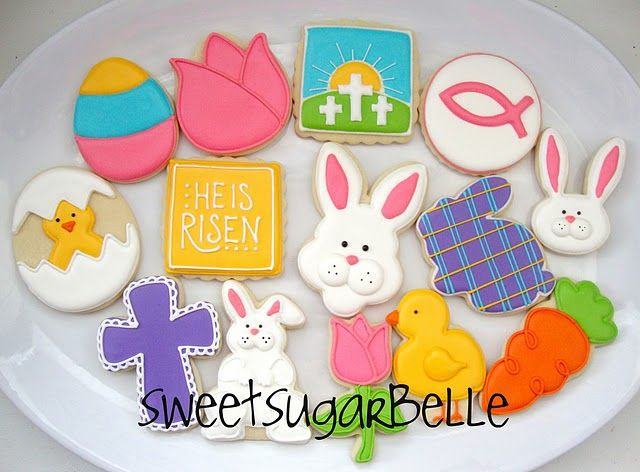 1st communion and easter cookies