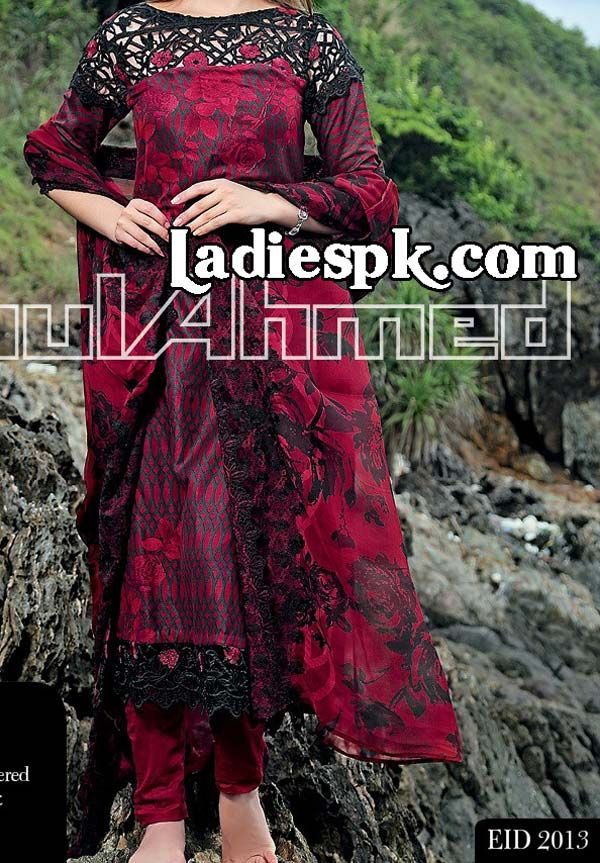 Gul Ahmed Chiffon Eid Collection 2013 with Prices for Women