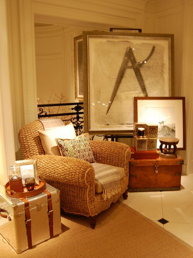 Paisley Curtain: Another episode of Ralph Lauren interiors