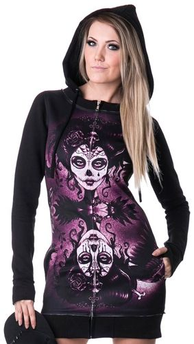 Sweat Zippé Femme VIXXSIN - Dead Crow - Sweats - Rock A Gogo