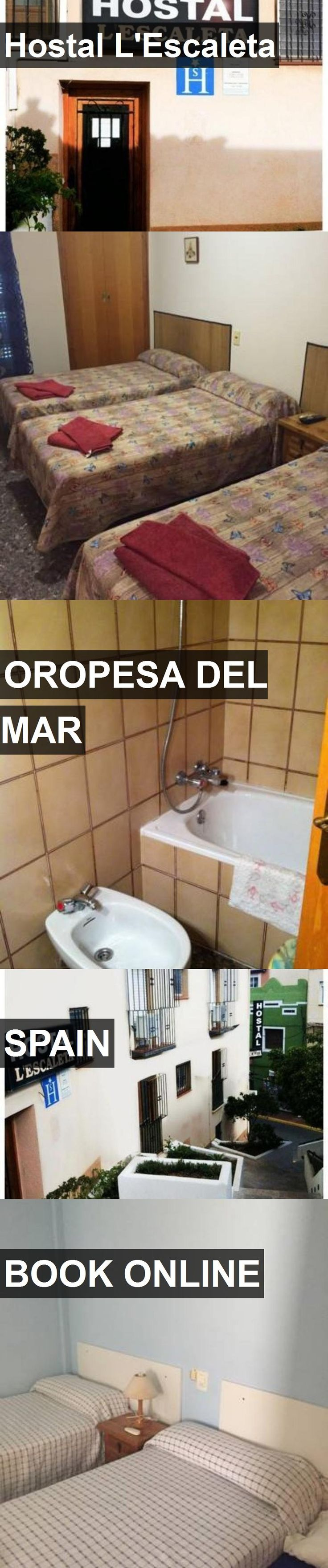 Hotel Hostal L'Escaleta in Oropesa del Mar, Spain. For more information, photos, reviews and best prices please follow the link. #Spain #OropesadelMar #travel #vacation #hotel