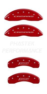 Camaro SS MGP Caliper Covers #14036SCS5RD - Set of 4 - fits all 2010, 2011, 2012, 2013, 2014, 2015 Camaro SS 1LE Models