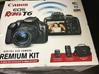 New Canon EOS Rebel T6 Wi-Fi DSLR Camera Premium Kit Bundle w/18-55 mm/ 75-300mm