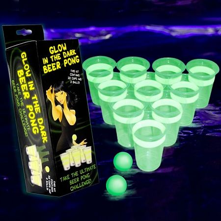 Glow in the Dark Beer Pong   St. Patrick's Day Party Supplies