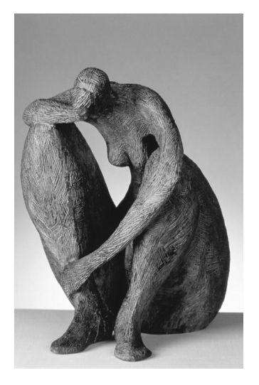 'Meditation' (bronze) by Marie-Madeleine Gautier