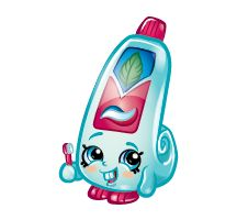 Scrups (Shopkins 1-101, 1-111) Scrubs is a green tube of toothpaste. Her variant is colored white. Scrubs is a common Health & Beauty Shopkin from Season One.