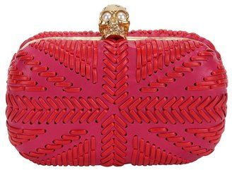 ShopStyle: Pink/red Woven Britannia Skull Box ClutchAlexander Mcqueen, Britannia Skull, Boxes Clutches, Mcqueen Pink, Pink R, Mcqueen Britannia, Skull Boxes, Woven Britannia, Fashion Handbags