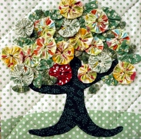 """Flores de tecido """"yo-yo"""". Idéias e MC da Internet. / Outros artesanato / Outros ofícios"""