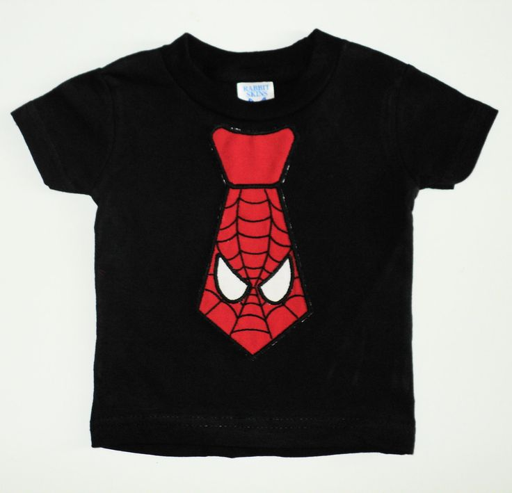 For Mason to wear to his Bubbies party!!! Custom Boutique Spiderman Tie T Shirt Sizes by TheLittleMansShop, $16.00