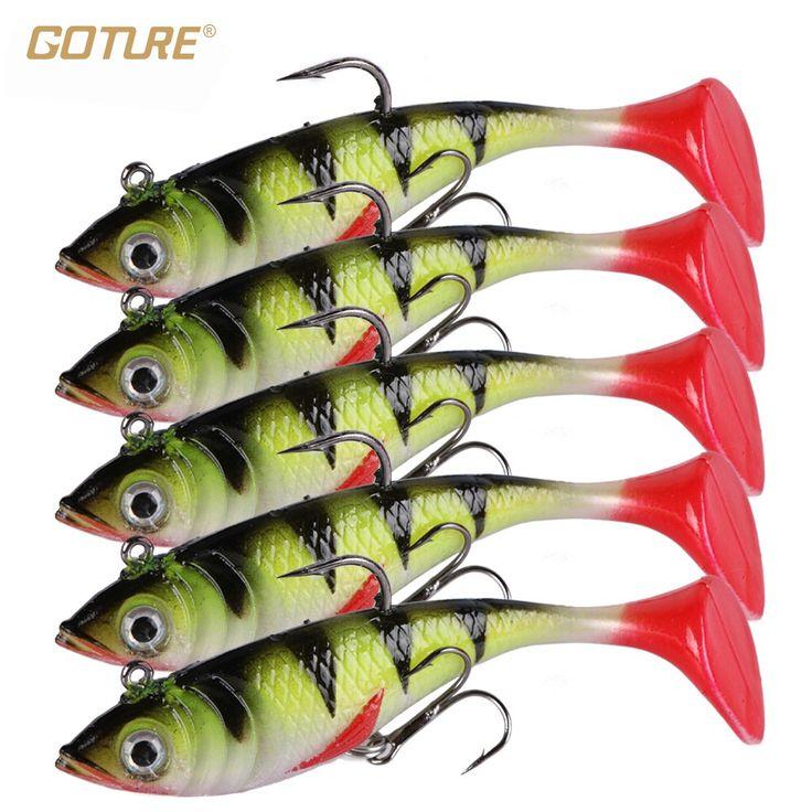 Goture 5pcs/lot 11g 8.5cm Soft Lure Artificial Bait Luminous Lead Fishing Jig Wobblers Fishing Lure Sea Fishing Tackle www.peoplebazar.net    #peoplebazar