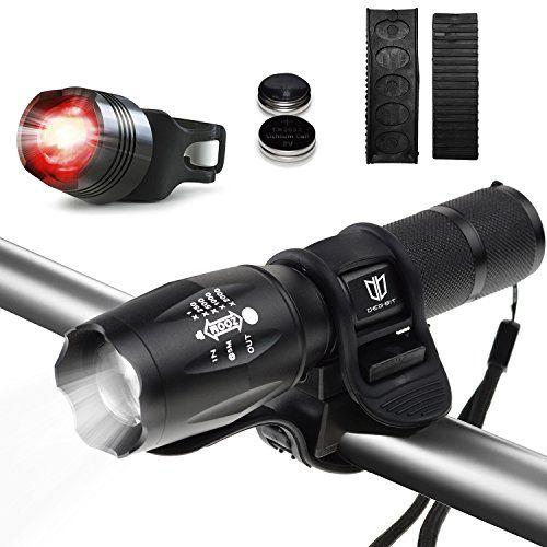Update Degbit Bike Light Set, USB Rechargeable Bicycle Light Mountain Bike Lig