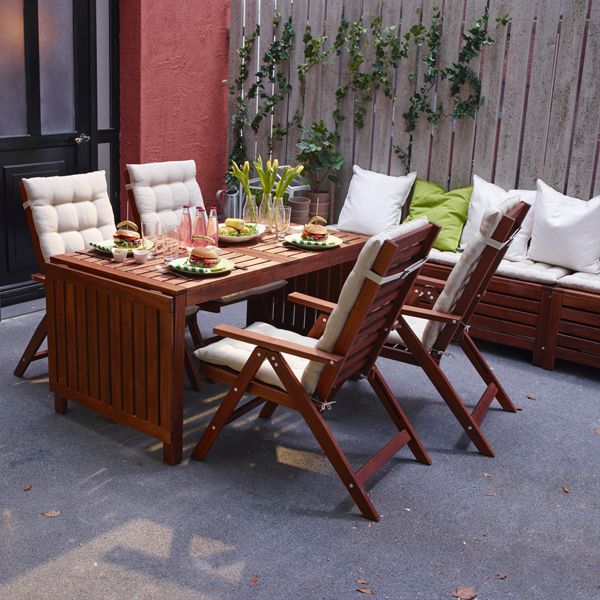 ikea pplar outdoor furniture made from durable solid wood has all the tables chairs benches and bar stools