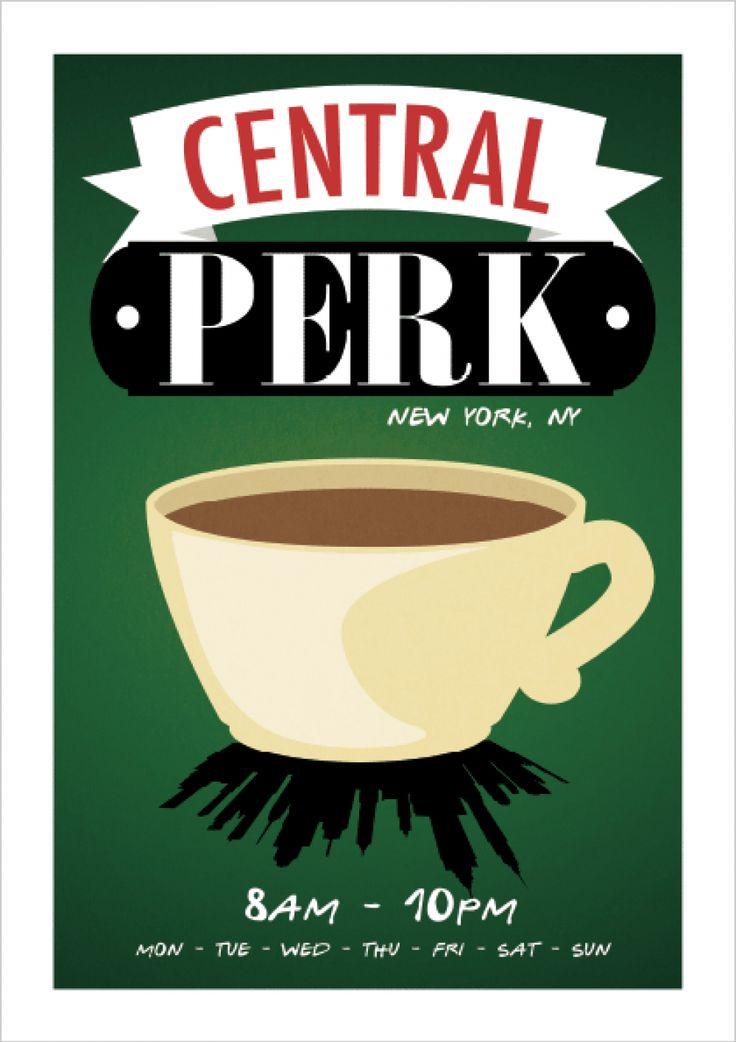 Central Perk - Friends - Comédia - Séries | Posters Minimalistas