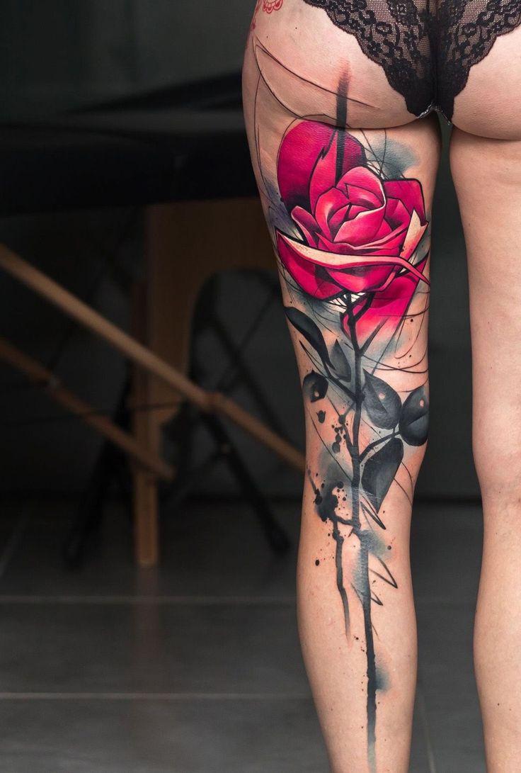 Rose tattoo #evamigtattoos #tattoo #uniquetattooideas