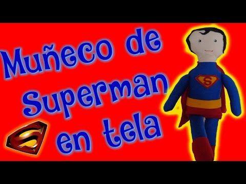 Muñeco de Superman hecho con tela | Fácil - YouTube