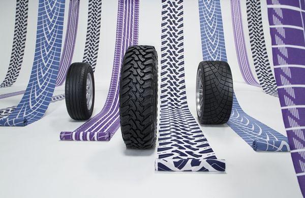 タイヤ柄の浴衣