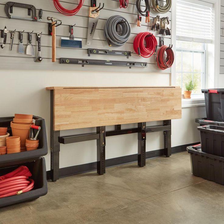 husky 42 in h x 72 in w x 24 in d steel and wood on new garage organization ideas on a budget a little imagination id=97948