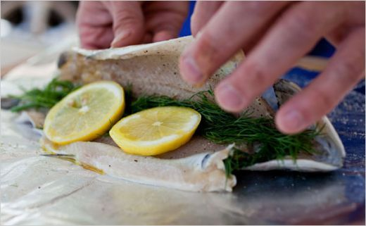 Rainbow Trout: Mine were fresh water fish from lake, I used fresh lemons n Italian spices, came out great. Can substitute.