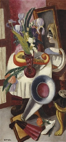 Max Beckmann, Still Life with Gramophone and Irises (1924) Weimar: Max Beckmann's Five Women