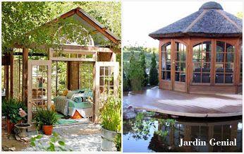 Беседка -уютный уголок в саду  Беседки нужны, чтобы можно  было укрыться в саду от непогоды.  Крыша такого импровизированного  домика укрывает от дождя и снега,  а стенки предохраняют от порывов  ветра. При этом вы находитесь на свежем воздухе, вдыхаете ароматы  произрастающих вокруг растений и слышите пение птиц.   #JardinGenial #ландшафтный_дизайн  #Озеленение #Освещение #Полив #Постройки_на_участке