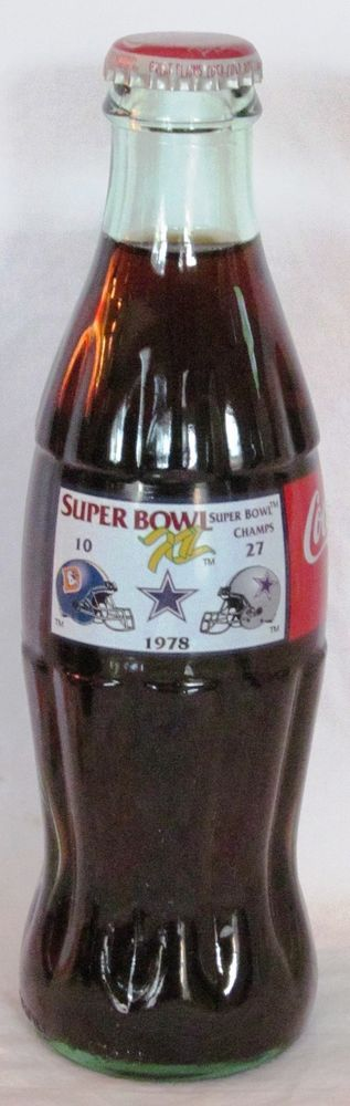 Coca-Cola Dallas Cowboys 5 Super Bowl Wins Series Coke Bottle vs Denver Broncos #CocaCola