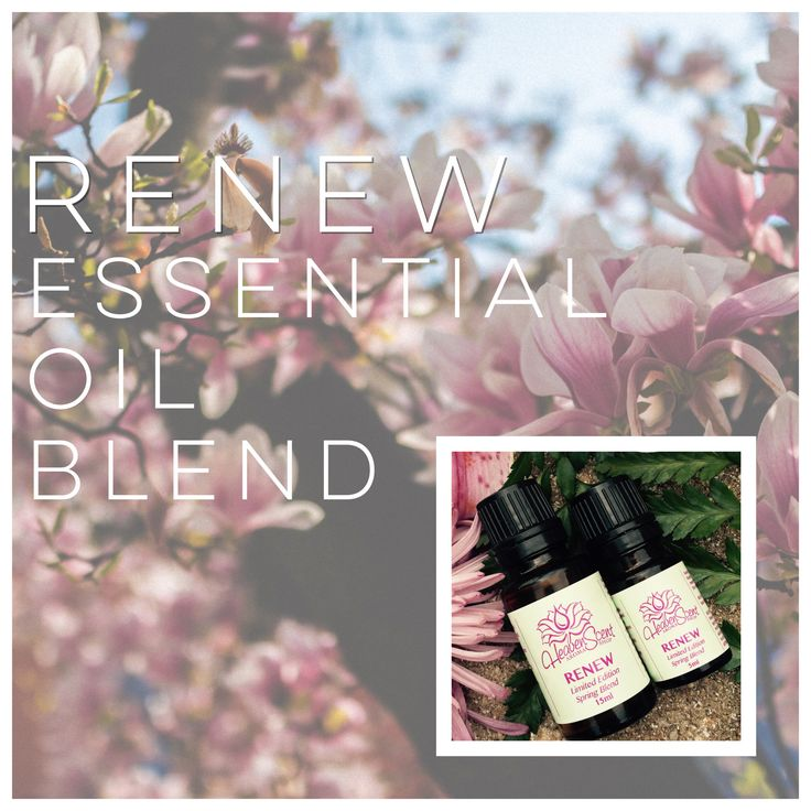 Renew is a beautiful, uplifting blend to help you welcome spring! Renew may also help relieve symptoms of seasonal allergies.