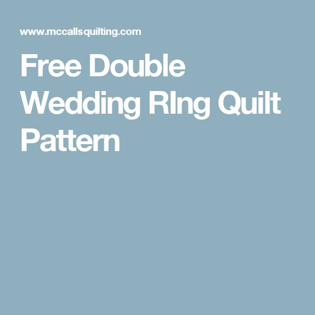 Free Double Wedding Ring Quilt Pattern Custom Wedding Bands