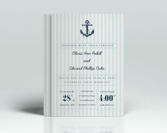DIY Printable Wedding Invitations Nautical by DIYprintableinvites, $30.00