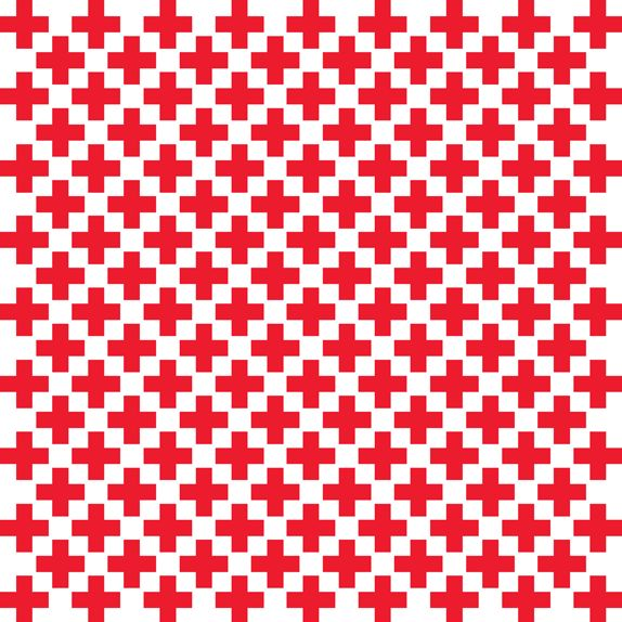 The Cross Pattern for American Red Cross designed by Turner Duckworth