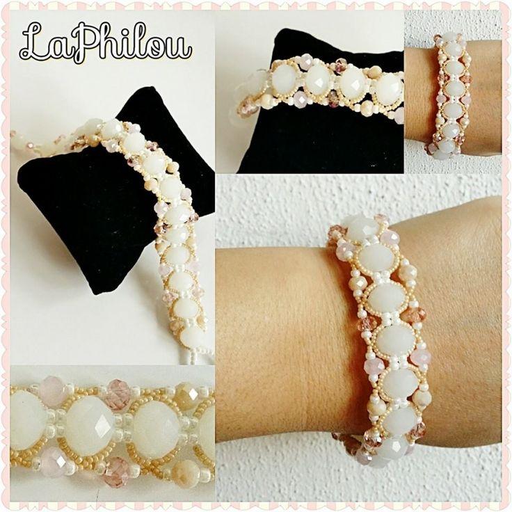Beadwork Shiny Round bracelet - LaPhilou