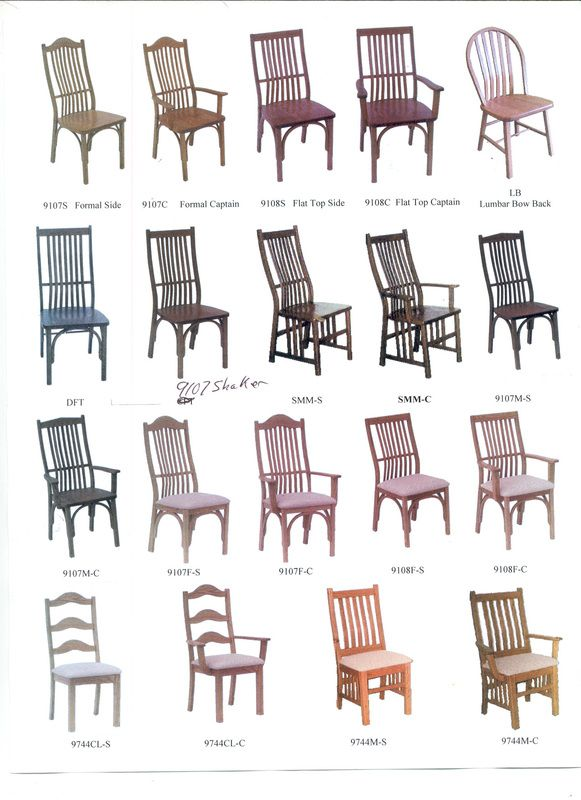 Chair Styles Kinney Custom Designs