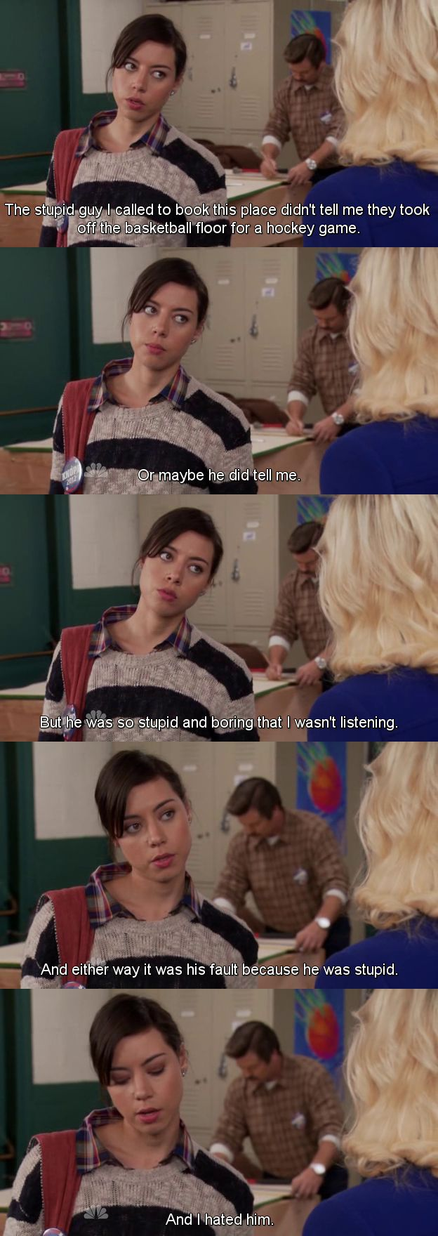 13. We have the same motto: NEVER TAKE THE BLAME | Community Post: 21 Reasons Why We Are Like Aubrey Plaza