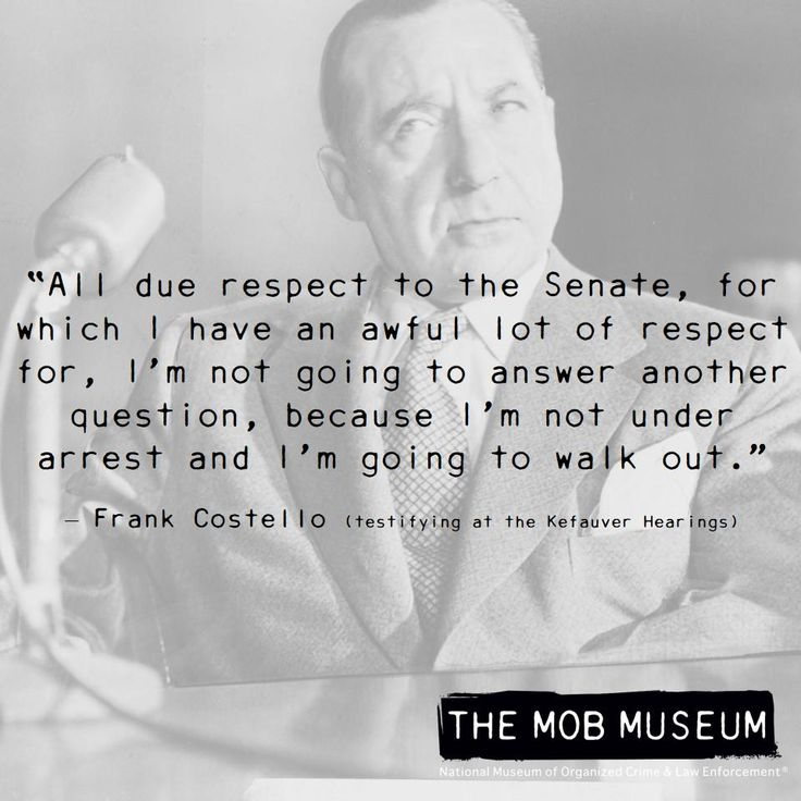 Frank Costello Quotes: Frank Costello #mobhistory