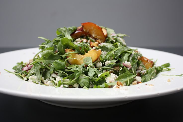 Grilled Nectarine and Rocket Salad. http://www.abasiccook.com/?space-recipes=grilled-nectarine-and-rocket-salad
