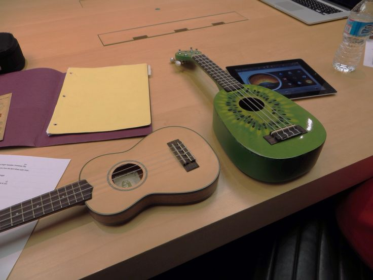 Our kind of meeting.  *Kiwi ukulele available now for $97.99 w free shipping!