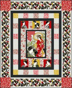 Diary of a Geisha Quilt | Free PDF Download included - amazing detail