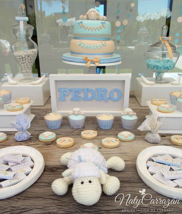 Little lamb baby shower party! See more party ideas at CatchMyParty.com!
