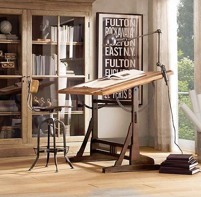 RESTORATION HARDWARE - Drafting table-  I want this as my office desk. What a great place to write my lesson plans