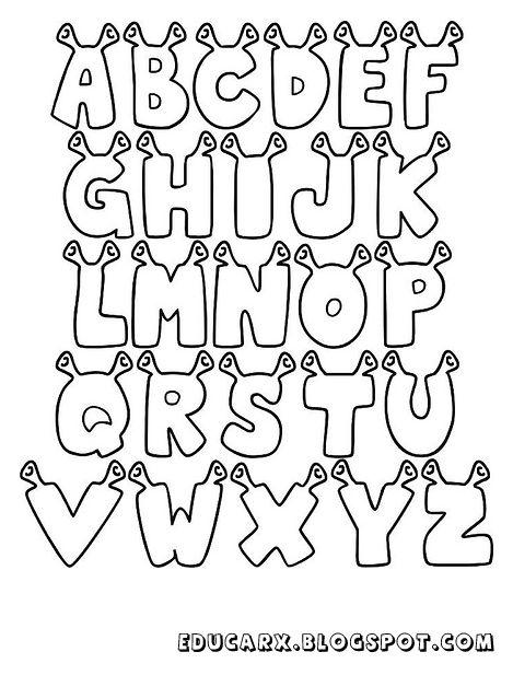 São 3 tipos de modelos de letras para cartas que podem ser impresso em papel A4 ou diretamente na cartolina em tamanho grande por que os mo...