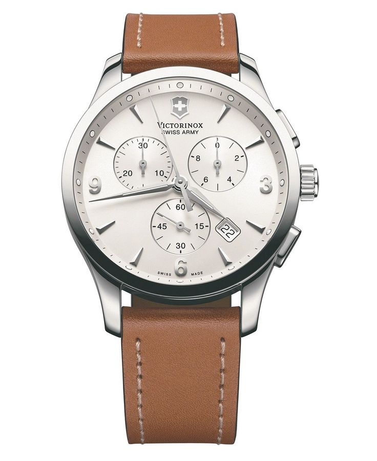 Victorinox Swiss Army Watch, Men's Chronograph Alliance Brown Leather Strap 241480 - Men's Watches - Jewelry & Watches - Macy's