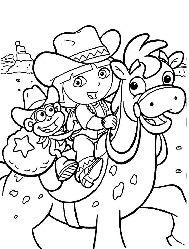 166 best dora coloring pages images
