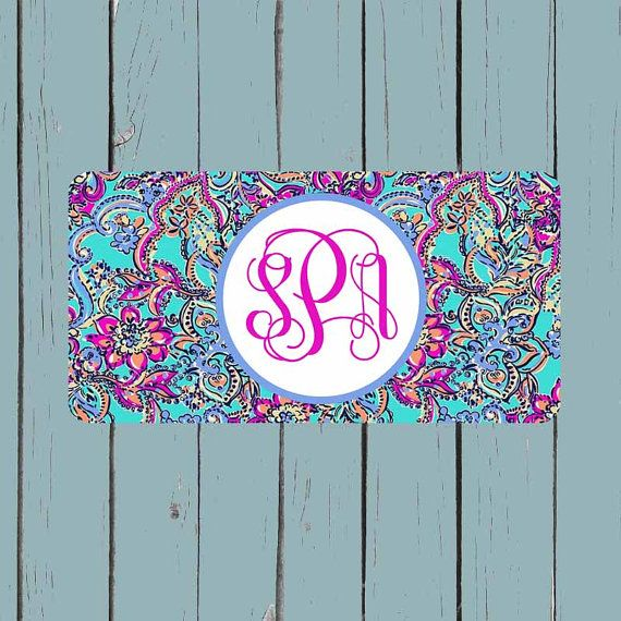 Front License Plate Lily Pulitzer Inspired License Plate