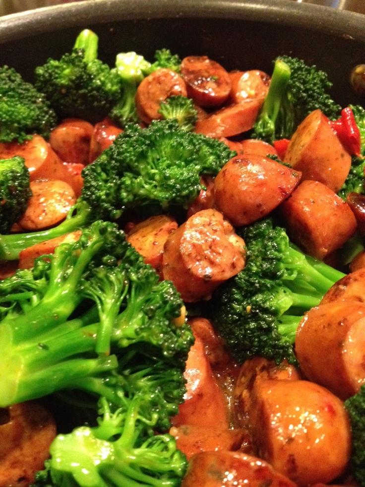 Chicken Sausage and Veggie Pasta.                  ( dinner idea) no Italian dressing
