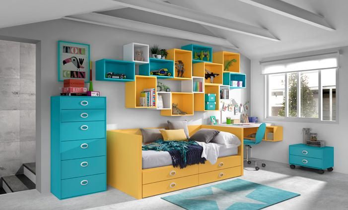 60 best images about estilo full color by kibuc on for Muebles juveniles kibuc